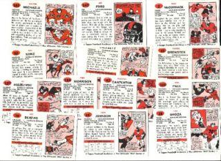 Stars Rookies Cleveland Browns Lou Groza Walt Michaels NEARMINT
