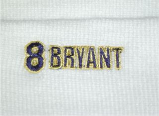 White Los Angeles Lakers 8 Bryant Embroidered Beanie NBA Knit Skull