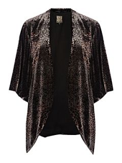 Biba Velvet animal print kimono jacket Multi Coloured