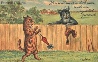 Louis Wain Collectible Tuck Cat 1905 Postcard Humorous Ser