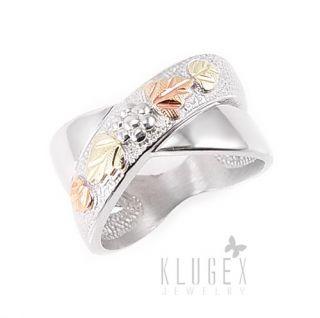Black Hills Sterling 12K Gold Ring Size 9