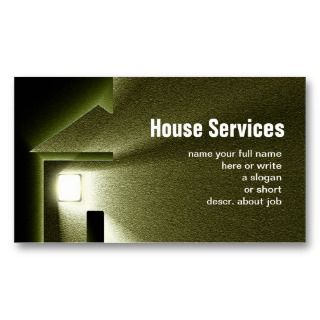 house home light business card