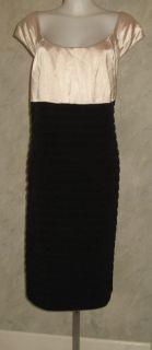 London Times Black Champagne Dress Plus Sz 22W $99