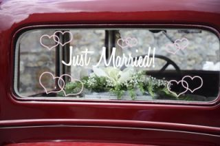 Just Married Just Married Car Decal Personalized Wedding Sticker