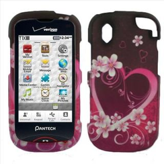 Purple Love Hard Case Cover Protector for Verizon Pantech Hotshot 8992