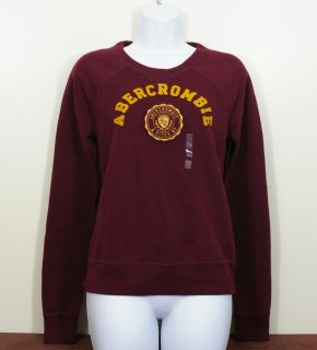 Abercrombie Fitch Women Eddy Sweatshirt Pullover Crew Neck Top Shirt