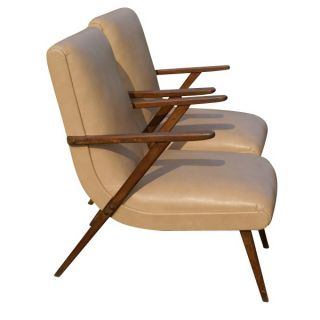 Vintage Italian Lounge Arm Chairs Manner Gio Ponti