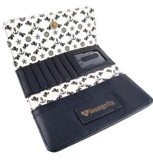 Loungefly Gold Skull Stripe Wallet Nautical Sugar Skull Wallet