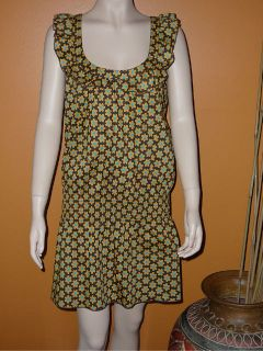 Moschino Love Moschino Floral Smocked Waist Dress Size 6 Cotton