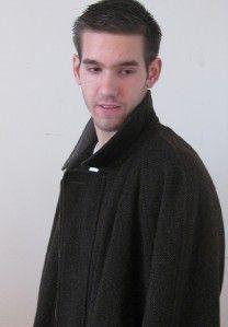 Longhi Italy Brown Tweed Wool Alpaca Leather Mans Big Tall Jacket Coat