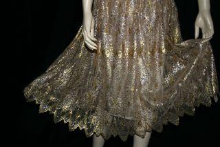Dolce Gabbana Gold Lace Corset Dress Supermodels Love 10K