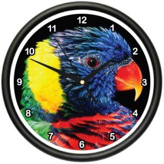 Rainbow Lorikeet Wall Clock Birds Parakeet Lorie Gift