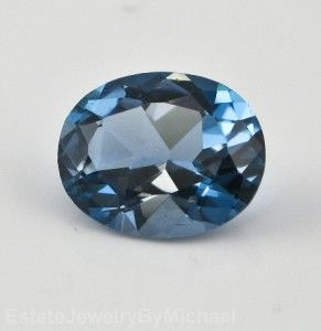 Oval Cut Genuine AAA London Blue Topaz Loose Gem Calibrated For 10x8mm