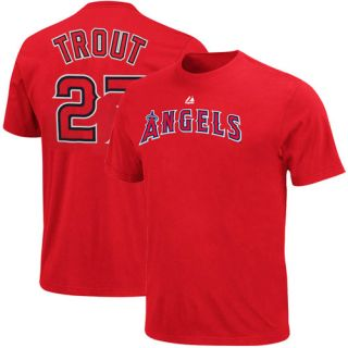 Majestic Mike Trout Los Angeles Angels of Anaheim 27 Player T Shirt