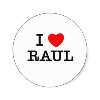 Love Raul Round Sticker