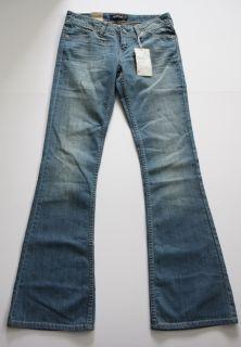 Levis Ultra Low Rise Stretch Flare Jeans 5 Denim Slim Fit Blue New