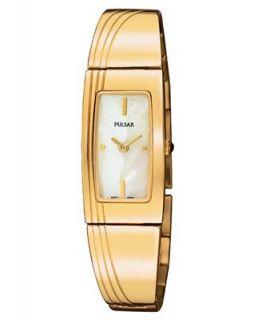 Pulsar Watch, Womens Gold Tone Stainless Steel Bracelet PEGD44
