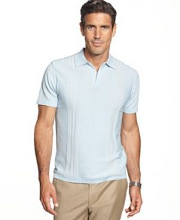 Cubavera Shirt, Fine Guage Panel Polo Shirt