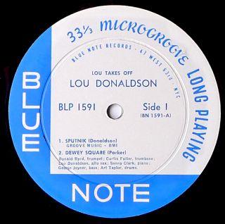 Lou Donaldson Lou Takes Off Blue Note BLP 1591 Orig Mono D G NM