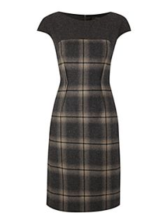Weekend MaxMara Elica tweed shift dress Dark Grey