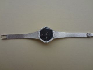 REDUCED Vintage 18K White Gold and Diamonds Omega Watch