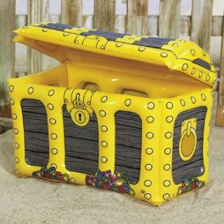 Inflatable Treasure Chest Drink Cooler Pirate Party Luau Pool