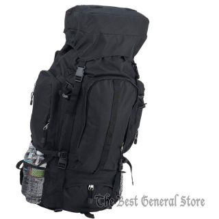 Large 34 Black Water Repellent Mountaineers Backpack Hunting Camping