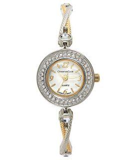 Charter Club Watch, Two Tone Crystal Bangle Bracelet 25mm   Fashion