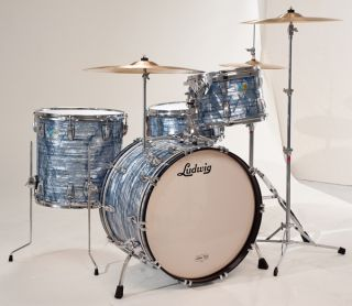 Up for auction is my 2011 Ludwig Classic Maple Drum Set Sky Blue Pearl