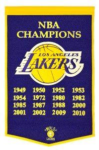 Los Angeles Lakers Wool Dynasty Banner Pennant NBA