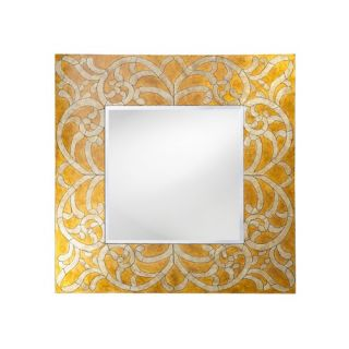 Howard Elliott Lucia Framed Mirror in Gold 14160