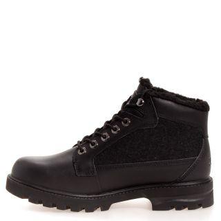 Lugz Mens Brigade Fleece Leather Casual Boot Boots Shoes