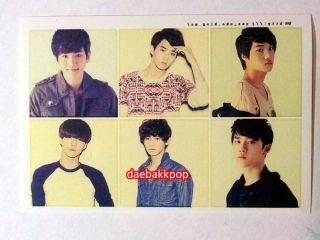 Sticker 4 Sheets Set Kai Chan Yeol Baek Hyun Kris Luhan SE Hun