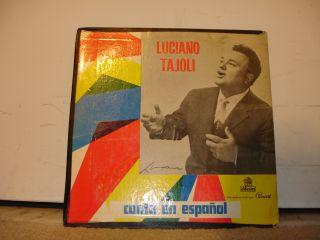 Oseon Cul 8044 Luciano Tajoli Canta En Espanol 19XX LP
