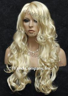 Super Luscious Layered Long Wavy Stunning Blonde Wig