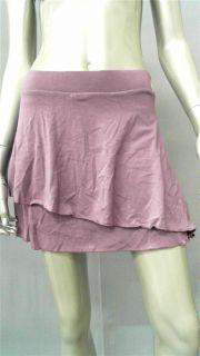 Lucy Love Junior s Layered Mini Skirt Purple Solid Designer Fashion