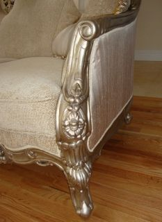 Traditional Elegant Formal Fabric Sofa Loveseat 2 PC Living Room Set