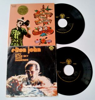 Elton John Lucy In The Sky With Diamonds / Saturday Nights.7/45