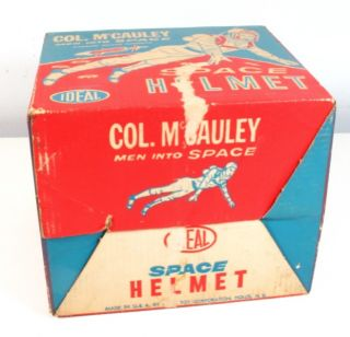 Vtg Col McCauley Men Into Space Space Helmet by Ideal Toys 1960 w Box
