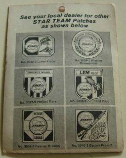 Ideal Star Team Luner Probe Mission Badge 1970