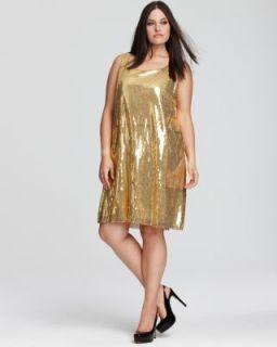 Love ady New Gold Sequin Tank Cocktail Dress Plus 1x BHFO