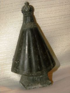 Antique Silver Metal Statue Figure Our Lady Lujan