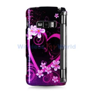 Purple Love Hard Skin Case Cover for LG enV3 VX9200 Phone