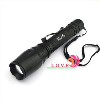 1600 Lumens CREE XML T6 LED Zoomable Flashlight Torch Lamp