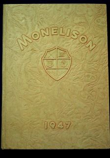 1947 Madison Heights High School Yearbook Monelison near Lynchburg, Va