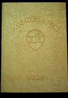 1947 Madison Heights High School Yearbook Monelison near Lynchburg, Va