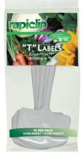 12 Luster Leaf 820 10 Pack 8 White Plastic T Label Plant Marker