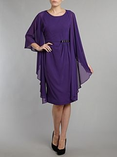 Shubette Chiffon shift dress and matching bolero jacket Amethyst
