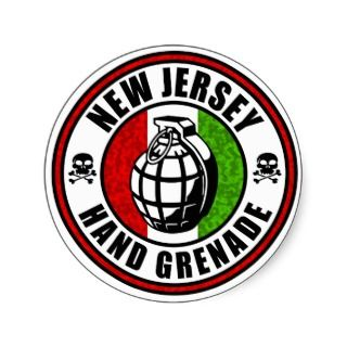 New Jersey Hand Grenade Sticker