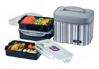 New Lunch Box Set Bento Lock & Lock HPL817 Salad Sandwich Box With